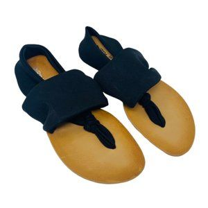Dirty Laundry Thong Sandals Black Slip On 8.5 New
